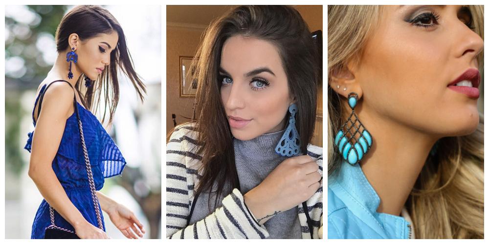 Brincos da moda: azuis estão em alta!