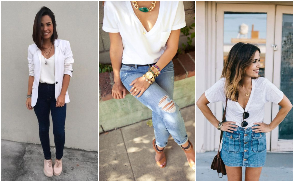 Casual Jeans – Look com camiseta branca