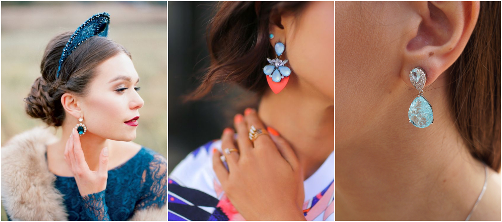 Brincos da moda azuis 1