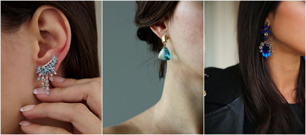 Brincos da moda azuis 2