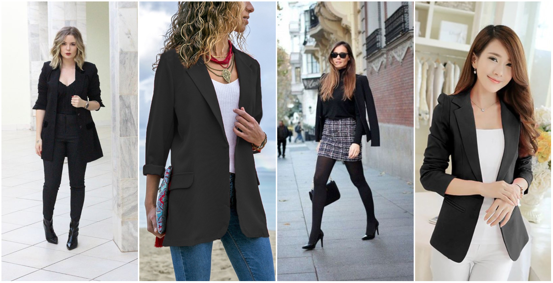 Looks de Trabalho com blazer preto