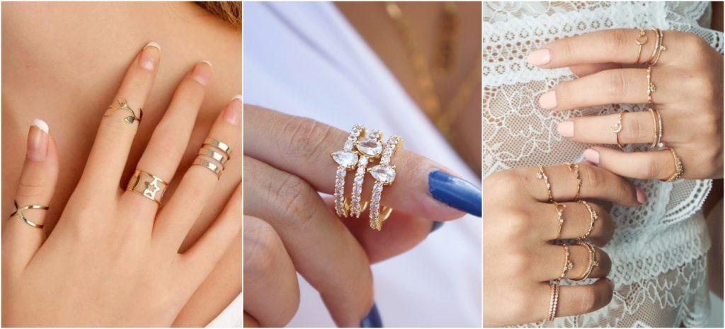 Acessórios Dourados: Anéis