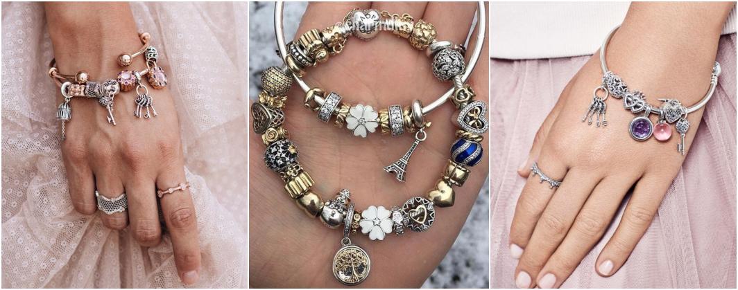 Tipos de pulseiras berloques