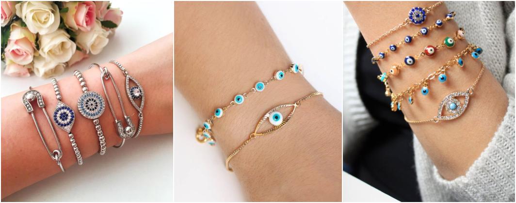 Tipos de pulseiras olho grego
