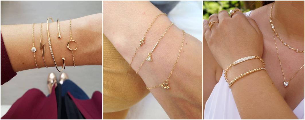 Tipos de pulseiras ouro
