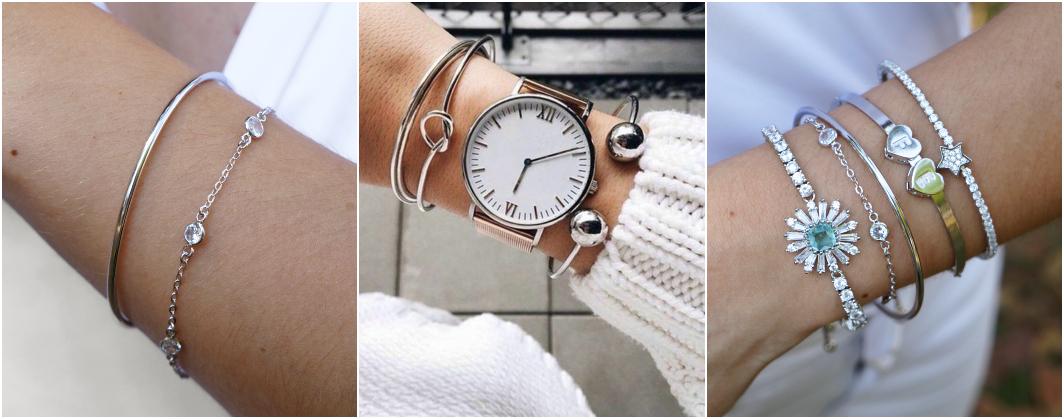 Tipos de pulseiras prata