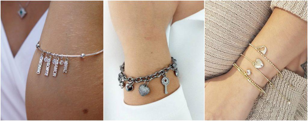 Tipos de pulseiras com pingente