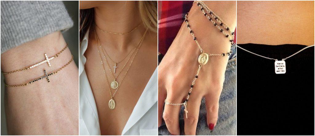 Como usar semi joias religiosas 2