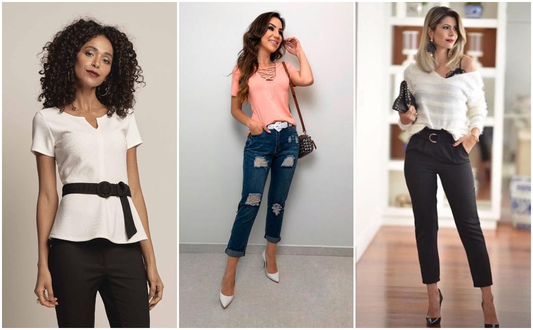Como usar cinto feminino que combine com a roupa? 2