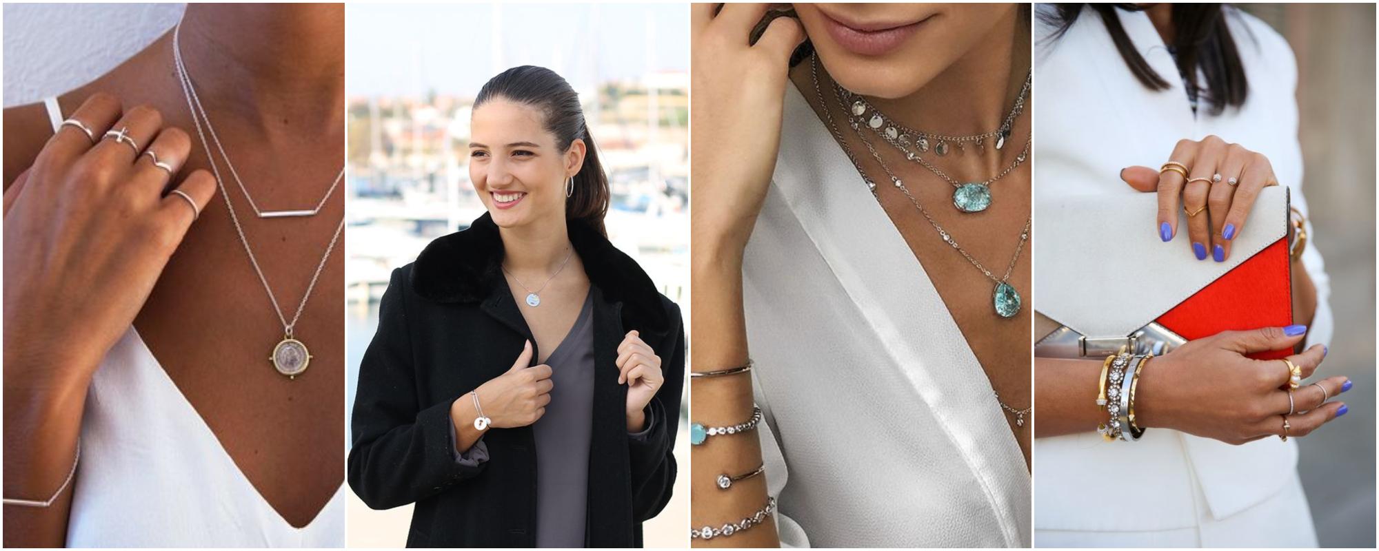 Semi joias em prata – Como usar acessórios prateados