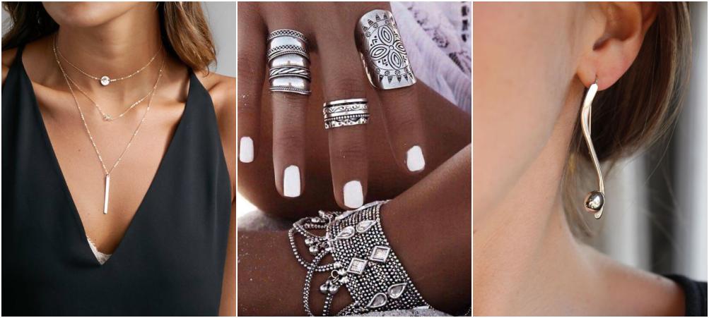 Semi joias em prata – Como usar acessórios prateados 1