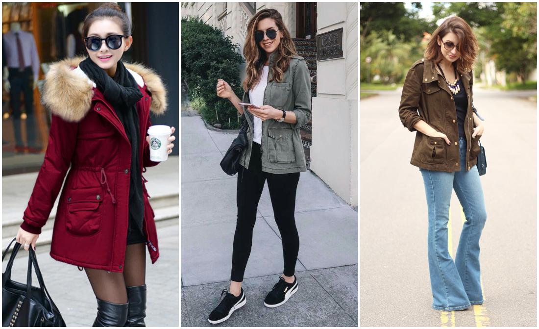 Tipos de casacos femininos - parka