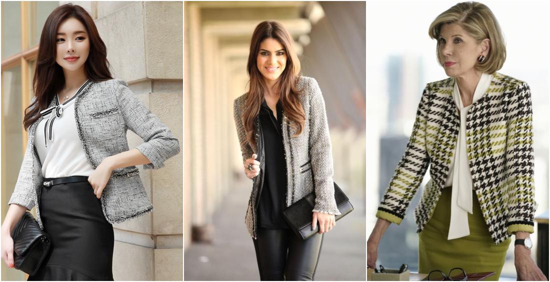 Tipos de casacos femininos - casaco tweed