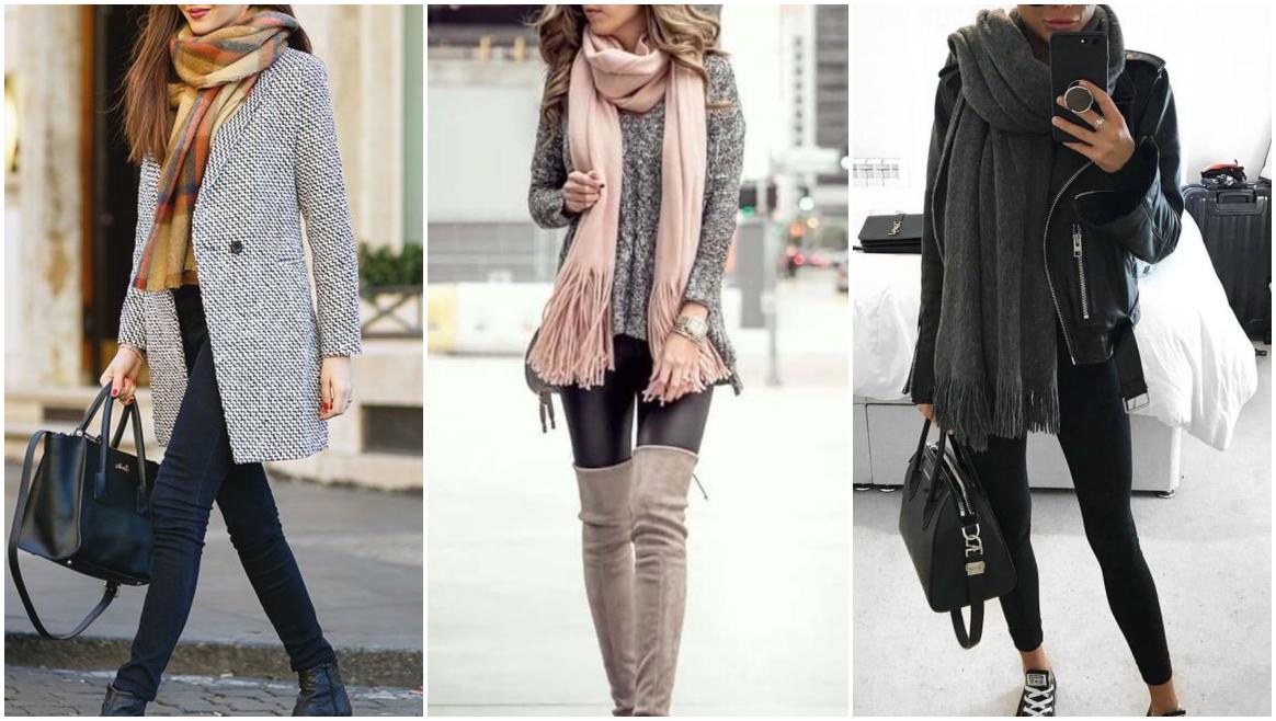 Como usar lenço no pescoço com legging