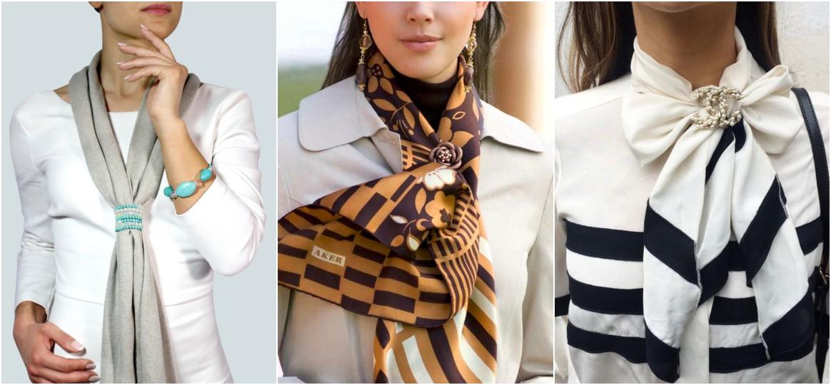 Como usar lenço no pescoço com broche