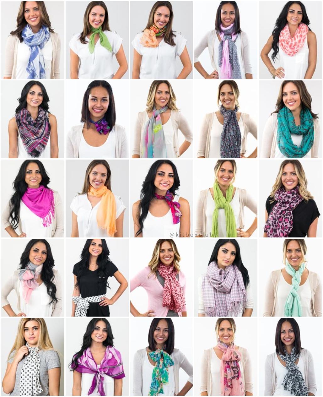 25 jeitos de amarrar o lenço no pescoço