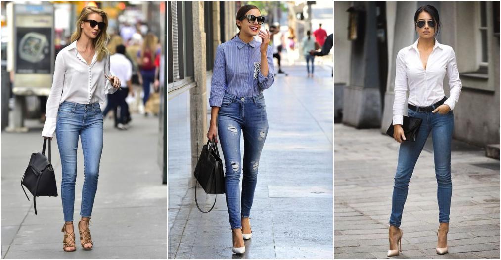 Looks com camisa social e calça jeans