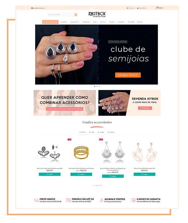 O que é a Kitbox - Loja online de semijoias