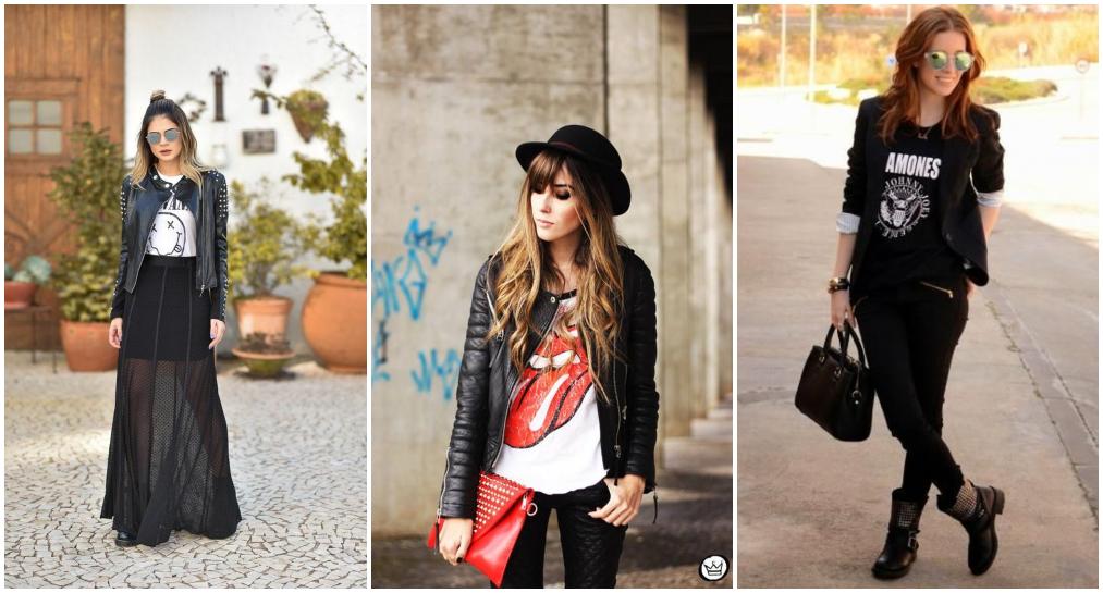 Look rocker com ródio negro