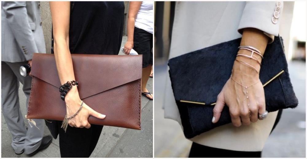 Modelos de bolsas femininas envelope