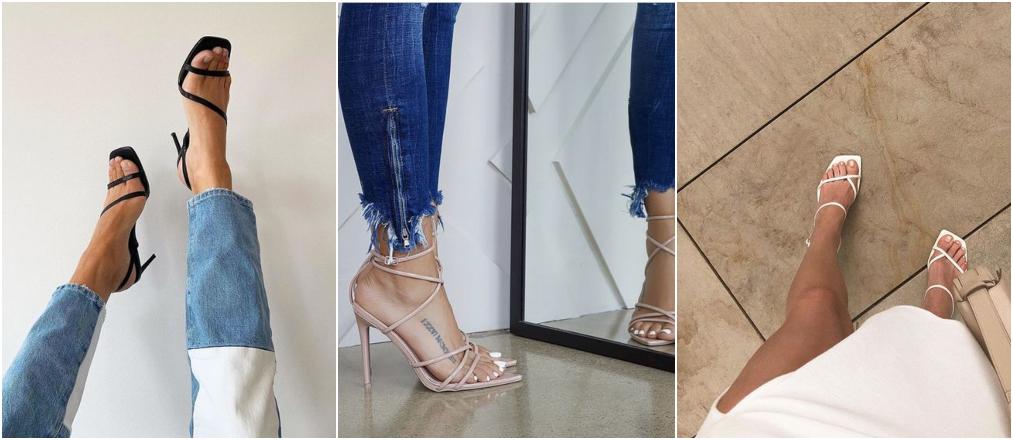 Tendências da Moda 2020 - sandália de tiras