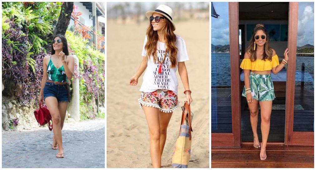 Looks Praia com shorts
