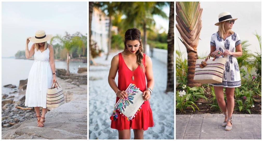 Looks Praia com vestido