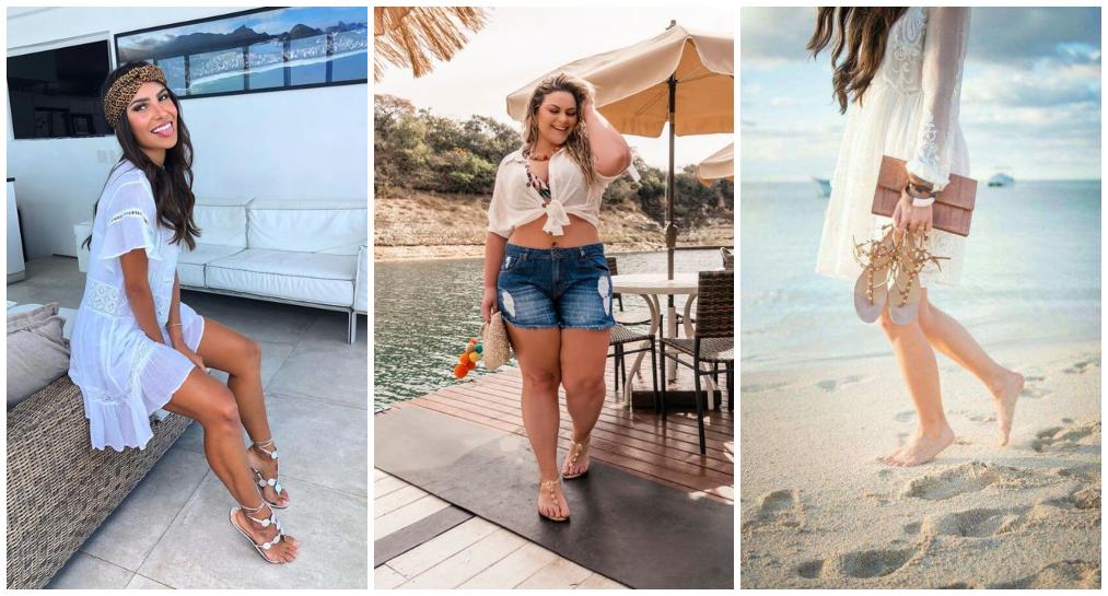 Looks Praia com sapato