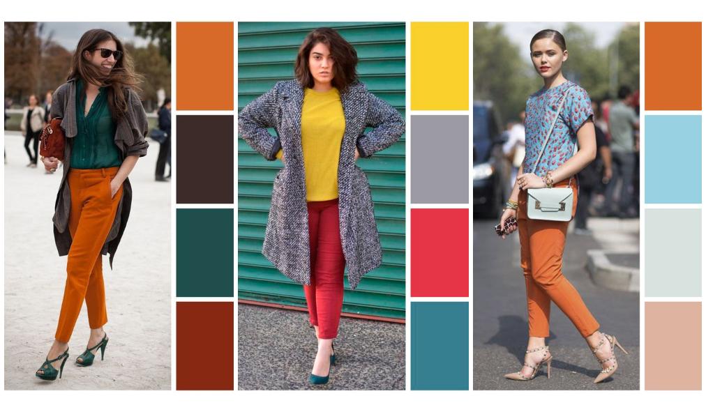 Combinação de cores de roupas