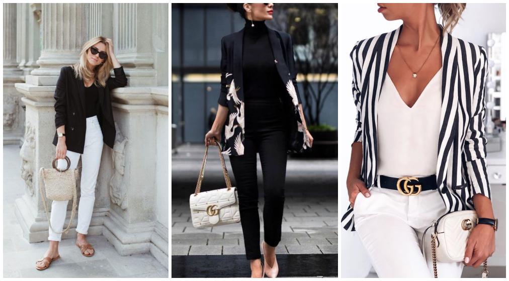 Combinação de cores de roupas pretas