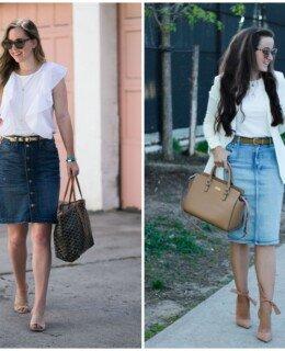 como usar saia jeans
