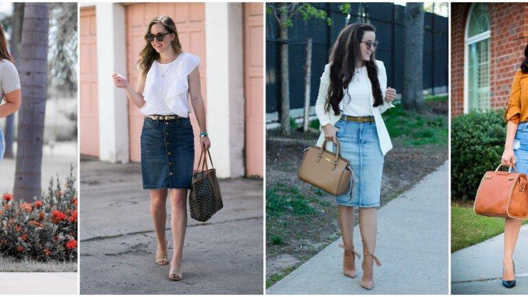 Como usar saia jeans para trabalhar